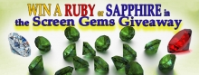 WIN a real RUBY or a real SAPPHIRE